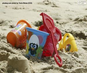 Puzle Brinquedos de praia