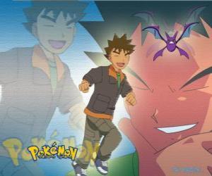 Puzle Brock, originalmente o líder do Ginásio da Cidade Pewter (Pewter), especializada em rock-Pokémon tipo.