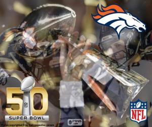 Puzle Broncos, campeão Super Bowl 2016