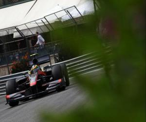 Puzle Bruno Senna-HRT - Monte-Carlo 2010