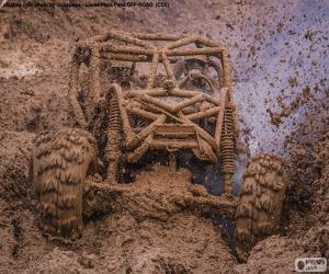 Puzle Buggy 4x4 na lama