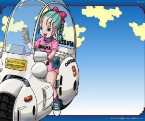 Puzle Bulma com a sua moto