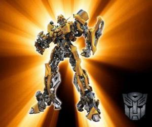 Puzle Bumblebee Transformers, é chamado - geração - os Autobots