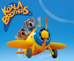 Puzle Buster e Frank pilotar um avião
