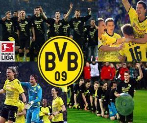 Puzle BV 09 Borussia Dortmund, campeão da Bundesliga 2011-12