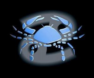Puzle Câncer ou Caranguejo. O caranguejo. Quarto signo do zodíaco. O nome em latim é Cancer