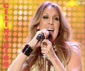 Puzle Céline Dion, cantora canadense