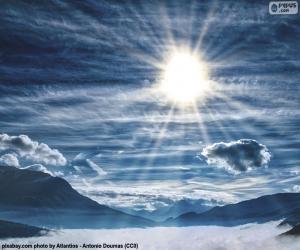Puzle Céu durante o dia