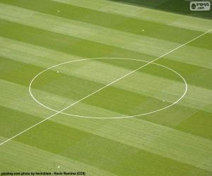 Puzle Círculo central do campo de futebol