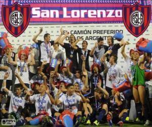 Puzle CA San Lorenzo de Almagro, campeão do Torneo Inicial 2013, Argentina