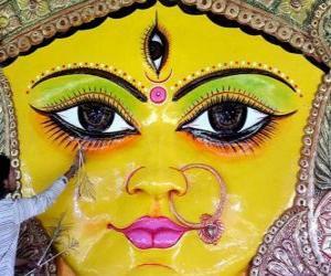 Puzle Caabeça da deusa Durga, um dos aspectos de Parvati