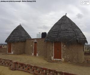 Puzle Cabanas na Índia