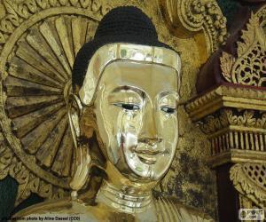 Puzle Cabeça de Buda de ouro