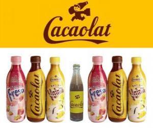 Puzle Cacaolat é uma marca de milkshake e cacau, mas também há de baunilha e morango batidos.