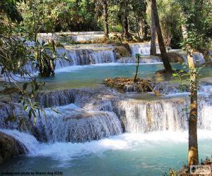 Puzle Cachoeiras de Kuang Si, Laos
