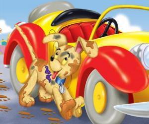 Puzle Cachorro Turbulento acompanha Noddy em suas aventuras