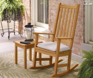 Puzle Cadeira de balanço de madeira