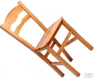 Puzle Cadeira de madeira simples