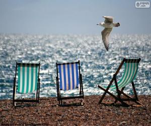 Puzle Cadeiras e gaivota
