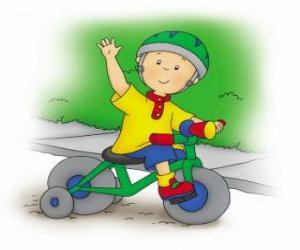 Puzle Caillou, andar de bicicleta