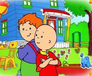 Puzle Caillou com seu amigo Leo
