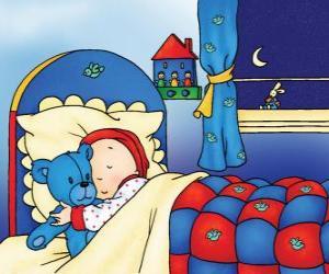 Puzle Caillou dormindo