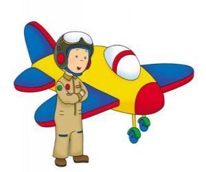 Puzle Caillou o aviador
