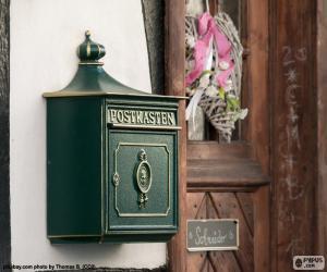 Puzle Caixa de correio privada verde