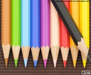 Puzle Caixa de lápis de cor