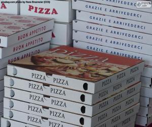 Puzle Caixas para pizzas em casa