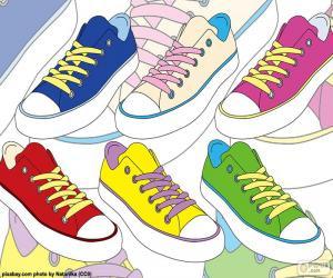 Puzle Calçados esportivos de cores