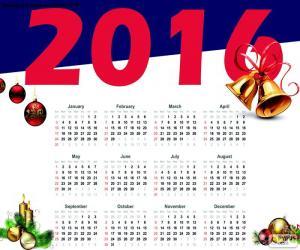 Puzle Calendário de 2016