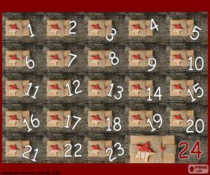 Puzle Calendário do advento de presentes