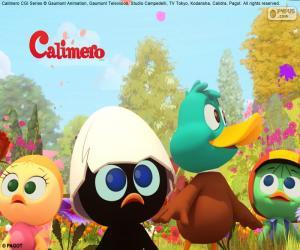 Puzle Calimero com amigos