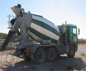Puzle Camião betoneira