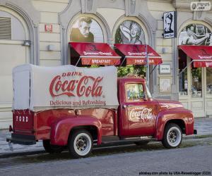 Puzle Caminhão velho de Coca-Cola