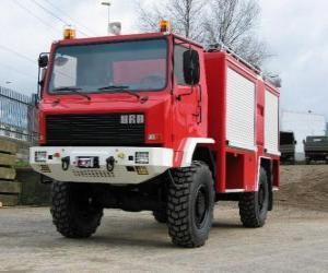 Puzle caminhão de bombeiros todo-terreno