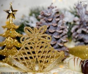Puzle Campanhas de Natal douradas