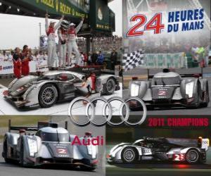 Puzle Campeões das 24 Horas de Le Mans, Audi R18 TDI 2011