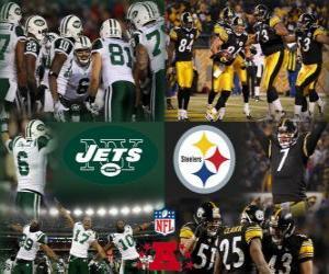 Puzle Campeonato de 2010-11 Final da AFC, New York Jets vs Pittsburgh Steelers