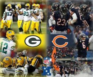 Puzle Campeonato de 2010-11 Final da NFC, o Green Bay Packers x Chicago Bears