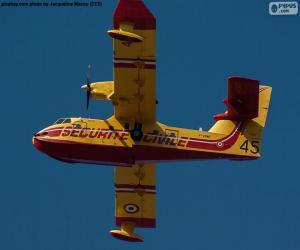 Puzle Canadair CL-215, hidroavião