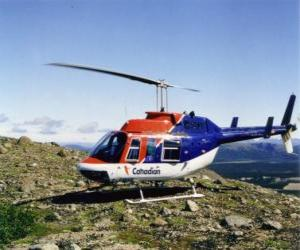Puzle Canadian helicóptero Bell 206