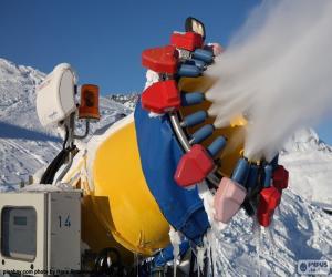 Puzle Canhão de neve
