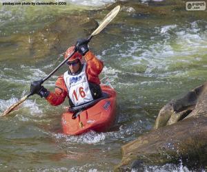 Puzle Canoagem de águas vivas