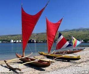 Puzle Canoas tradicionais, Pacífico
