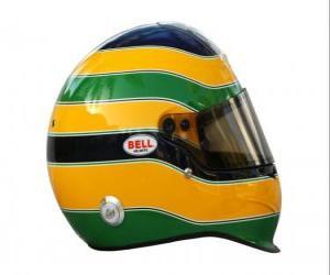 Puzle Capacete de Bruno Senna 2010