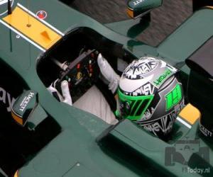 Puzle Capacete de Heikki Kovalainen 2010