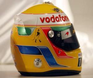 Puzle Capacete de Lewis Hamilton 2010