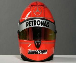 Puzle Capacete de Michael Schumacher 2010